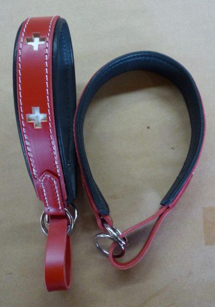 Swiss Cross~ Padded Limited Slip Collar